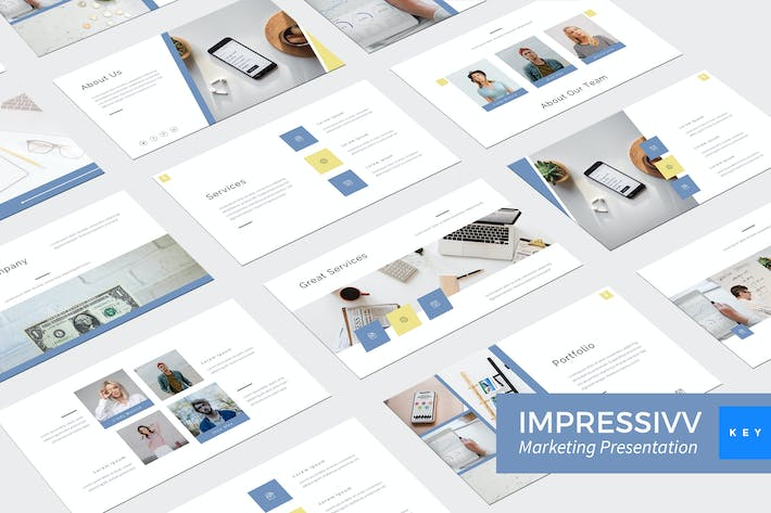 Thumbnail for Impressivv - Marketing Keynote Template