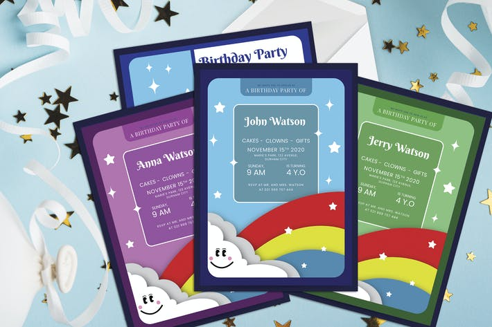 Thumbnail for Sky - Kids Birthday Invitation