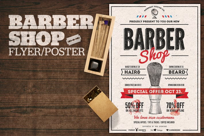 Thumbnail for Barber Shop Flyer Poster