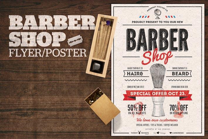 Cover Image For Barber Shop Flyer Poster