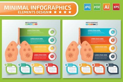 Virus Lung Infographics