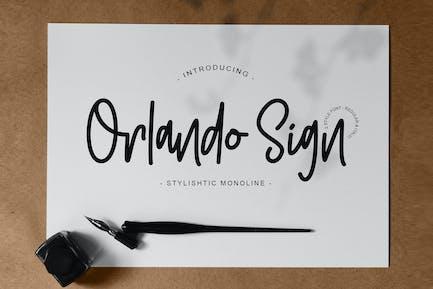 Orlando Sign | Monoline estilística