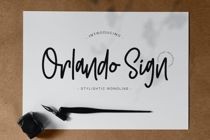 Thumbnail for Orlando Sign | Stylishtic Monoline