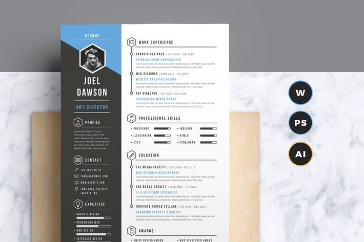 resume cv by leaflove on envato elements