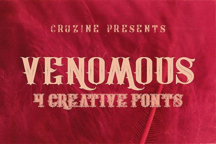 Thumbnail for Venomous Typeface