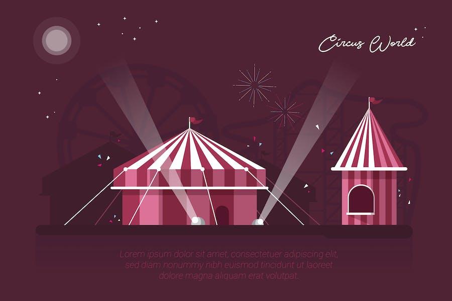 Circus World - Vector Landscape & Building