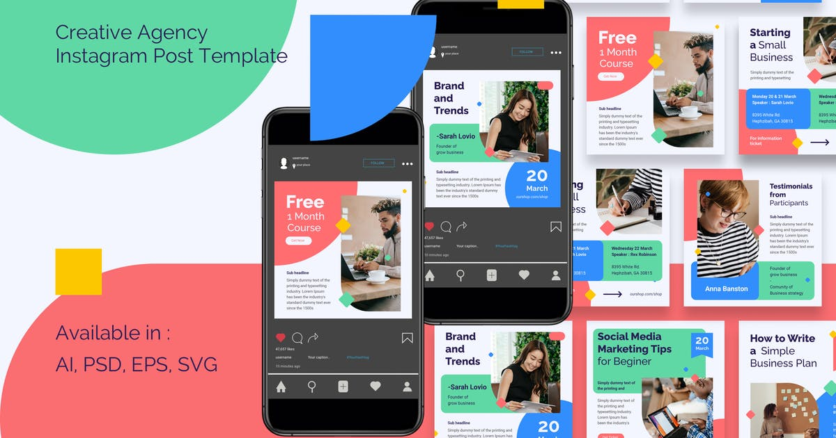 Download Creative Agency Instagram Post Template by deTheme