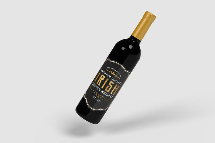 Thumbnail for Wine Bottle Product Mockups V.2