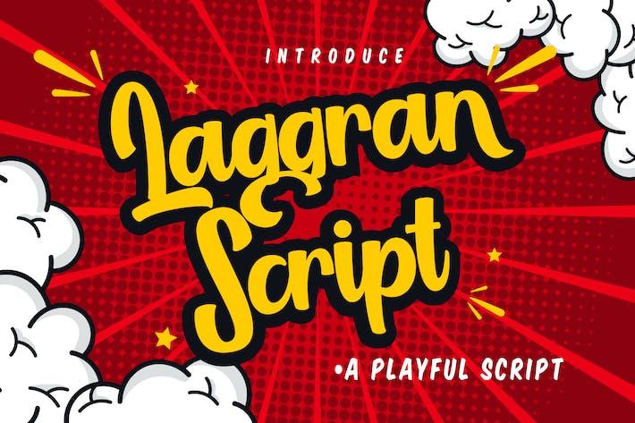 Thumbnail for Laggran | Font de script ludique