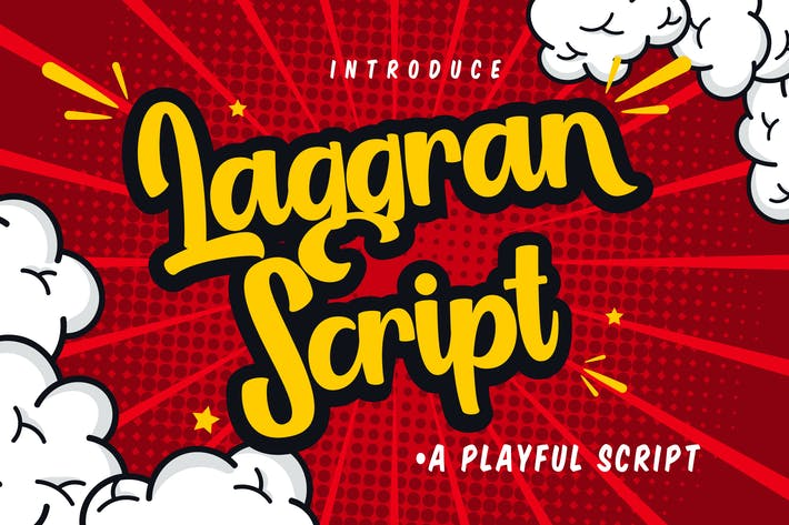Thumbnail for Laggran | Playful Script Font