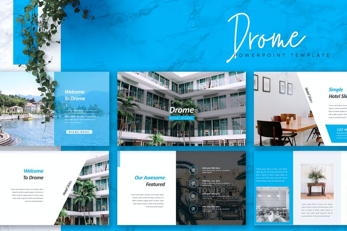 Cover Image For DROME - Hotel Powerpoint Template
