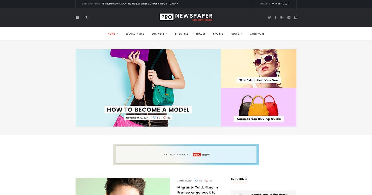 Download Pro Newspaper  HTML by Templines