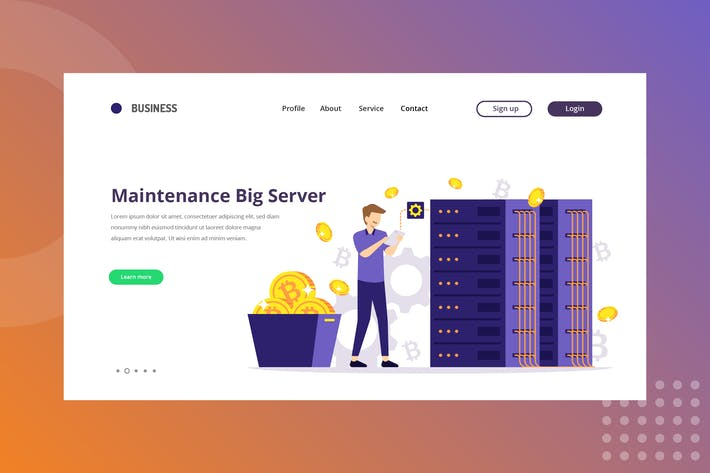 Thumbnail for Maintenance Big Server Landing Page
