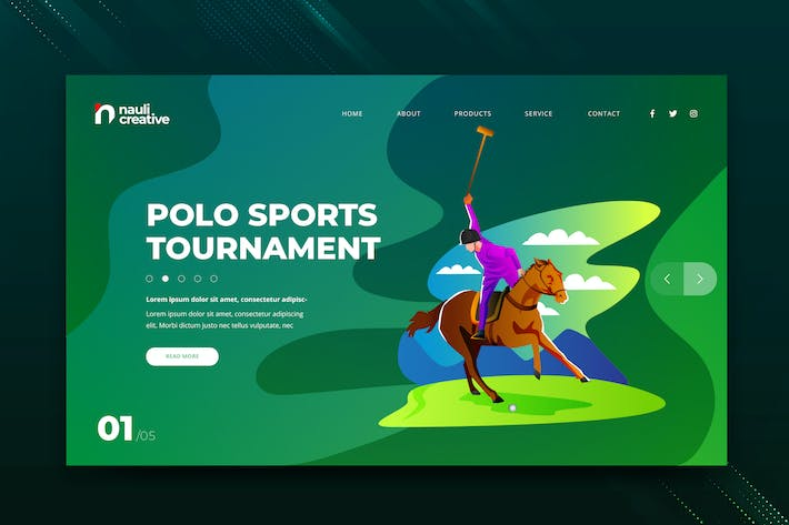 Thumbnail for Polo Sports Web PSD and AI Vector Template