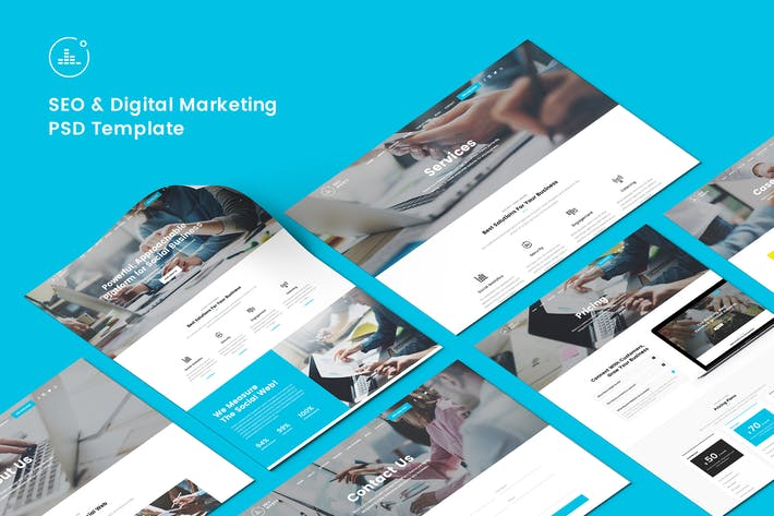 Thumbnail for SEO & Digital Marketing PSD Template