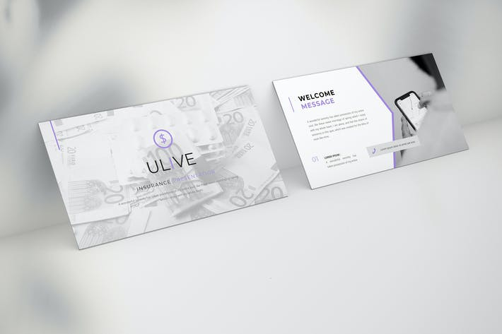 Thumbnail for Ulive - Insurance Keynote Template