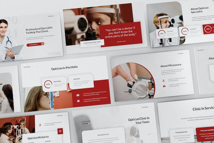 Optician Specialist Powerpoint Presentation Templa