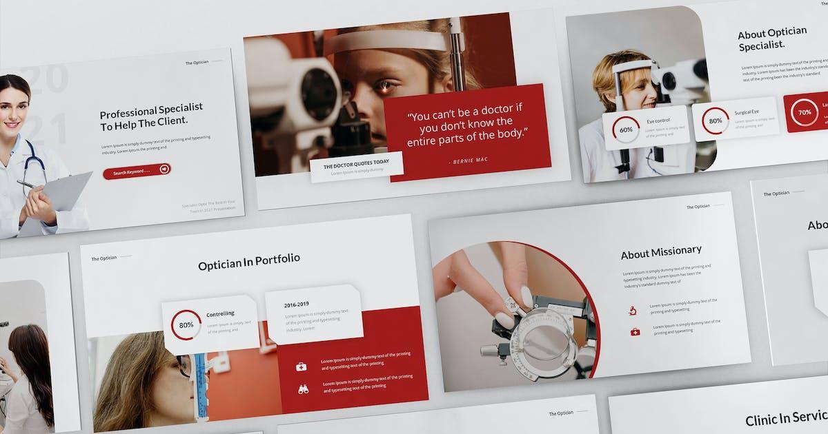 Download Optician Specialist Powerpoint Presentation Templa by Formatika