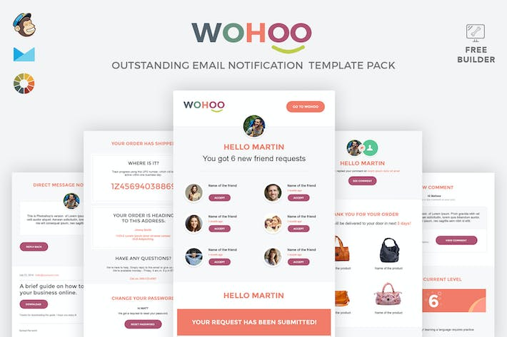 Thumbnail for WOHOO - Beautiful Email Notifications Template