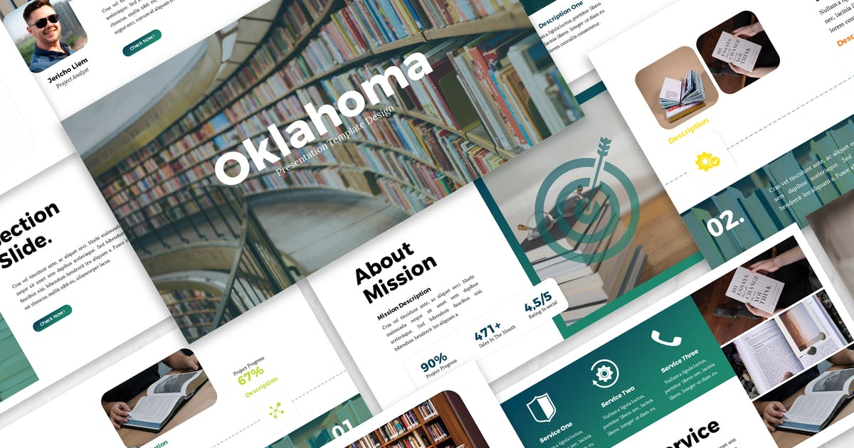 Download Oklahoma - Business Keynote Template by Blesstudio