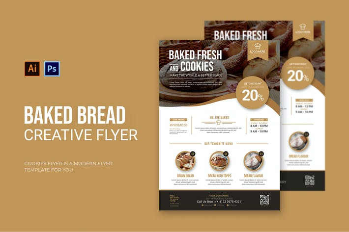 Thumbnail for Baked Bread - Flyer