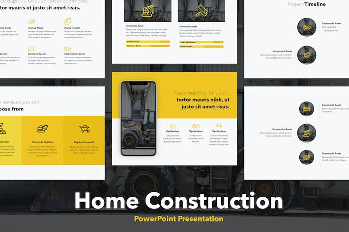Thumbnail for Home Construction PowerPoint Template
