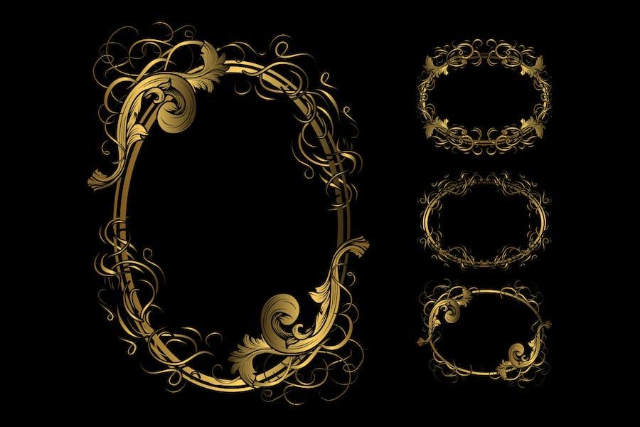 Circle luxury frame