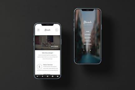 Blureh | Mobile Website Template