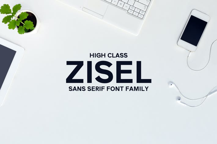 Thumbnail for Zisel Sans Fonts Family Set