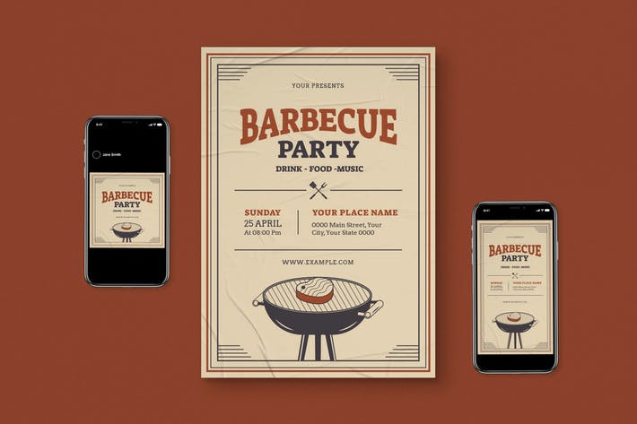 Thumbnail for BBQ Party Flyer Pack