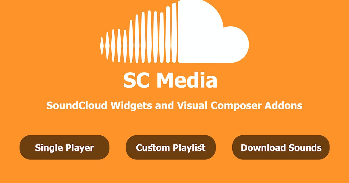 Download SC Media - SoundCloud Widgets and Visual Composer by Tatwerat-Team