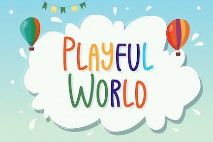 Mundo juguetón - Fuente de visualización juguetona