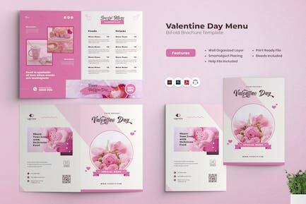 Valentine Menu Bifold Brochure