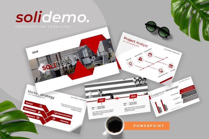 Thumbnail for Solidemo - Pitch Deck Powerpoint Presentation