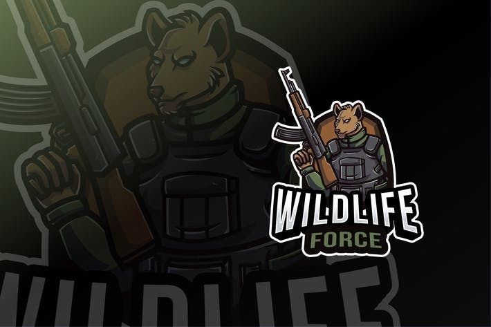 Thumbnail for Wildlife Force Logo Template