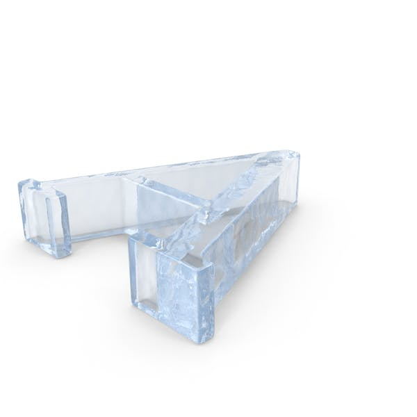 Ice Letter Capital A