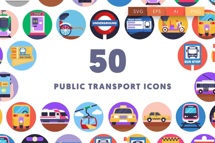 50 Public Transport Icons