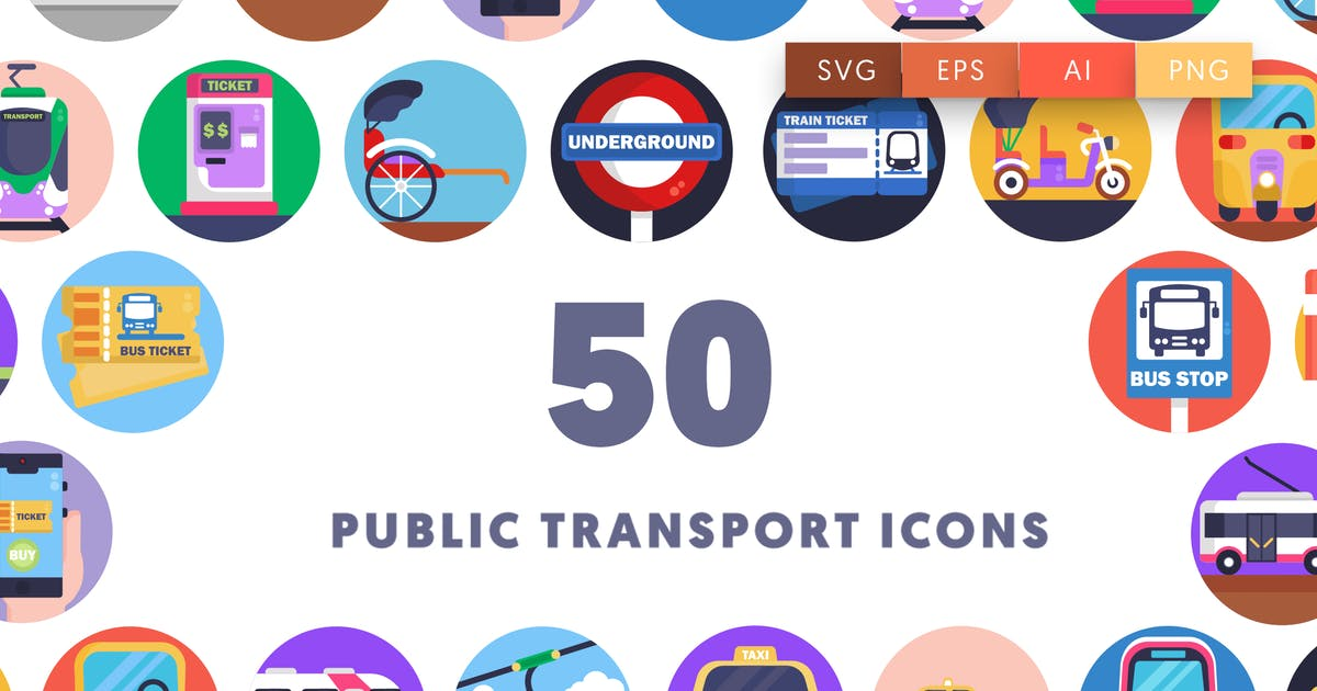Download 50 Public Transport Icons by thedighital