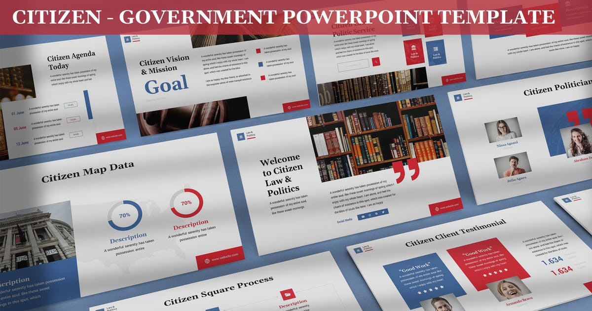 Download Citizen - Government Powerpoint Template by SlideFactory