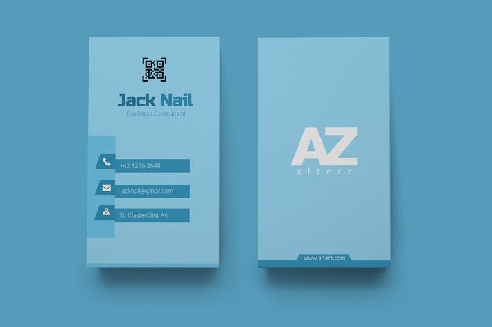 Thumbnail for Vertical Business Card 05