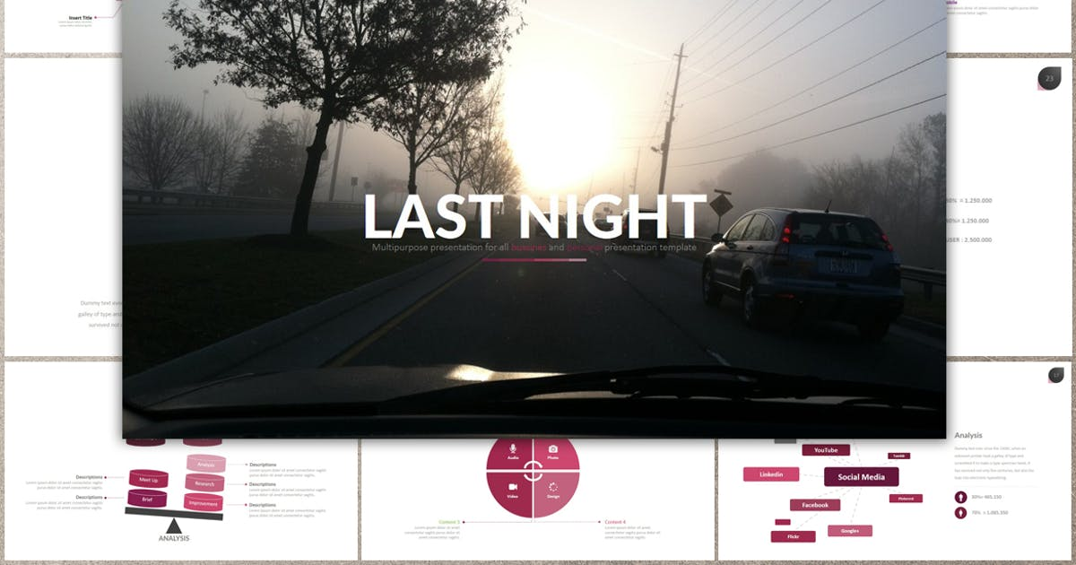 Download LAST NIGHT Powerpoint by Artmonk