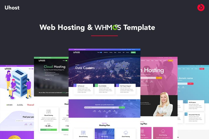 Thumbnail for Uhost - Web Hosting & WHMCS Template