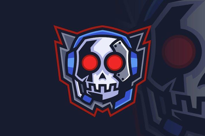 Schädel Headset Emblem