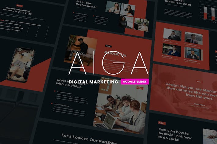 Aiga - Digital Marketing Google Slides