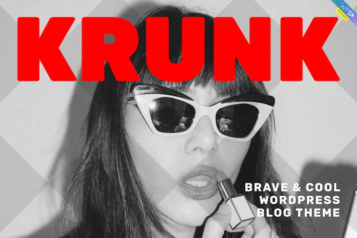 Thumbnail for Krunk - Brave & Cool WordPress Blog Theme