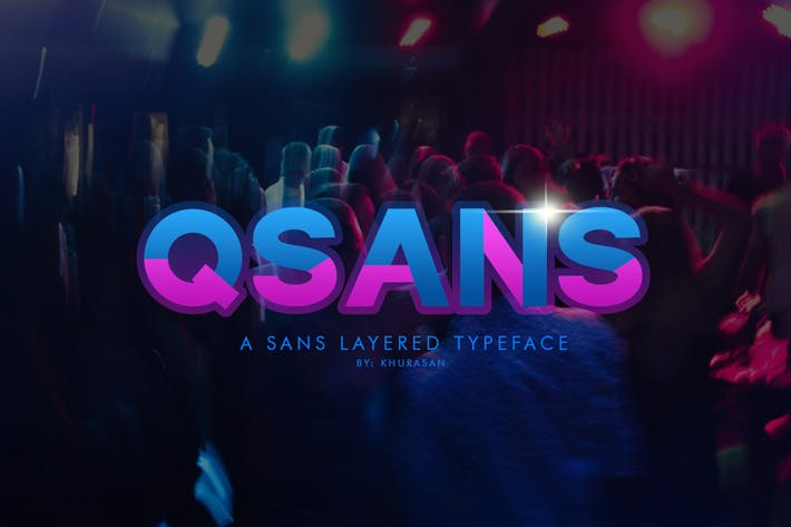 Thumbnail for Qsans Layered Font