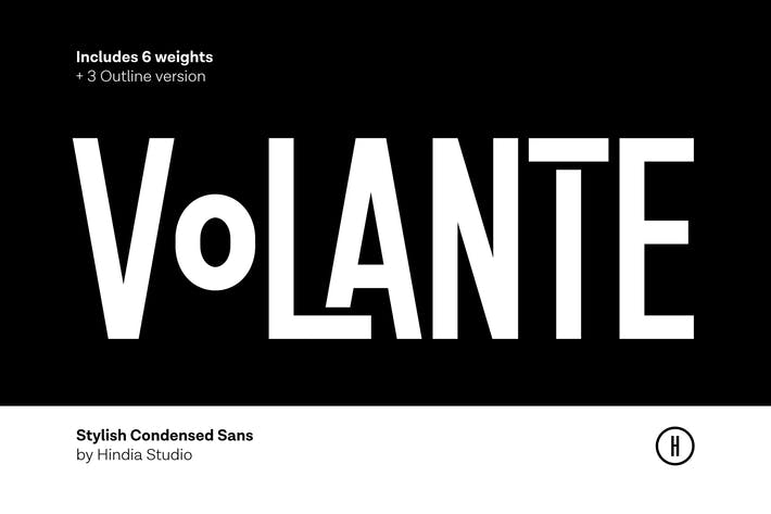 Thumbnail for Volante - Condensed Sans Family