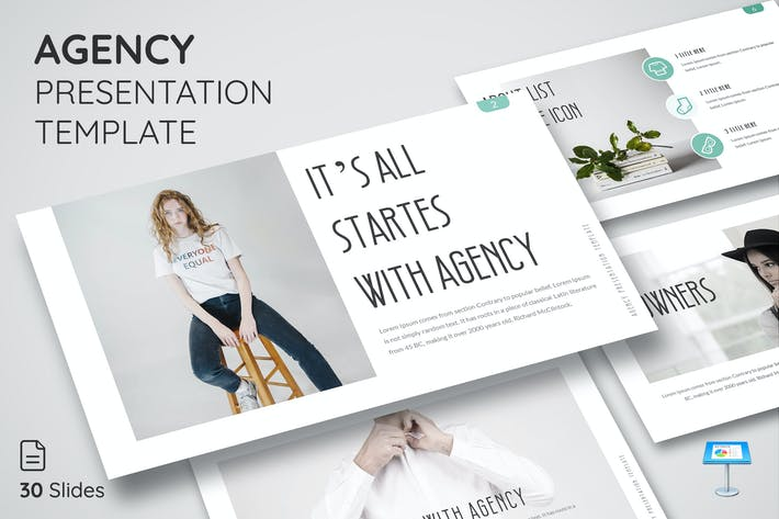 Thumbnail for Agency - Keynote Presentation Template