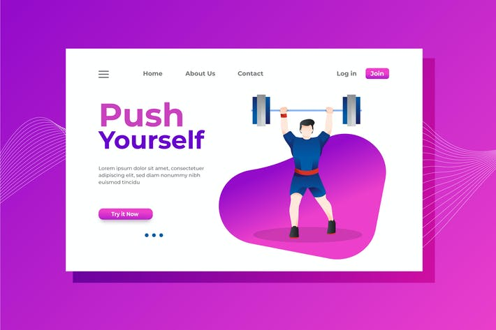 Thumbnail for Push Yourself Landing Page Illustration