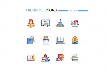 Reading - Modern Line Design Style Icons Set